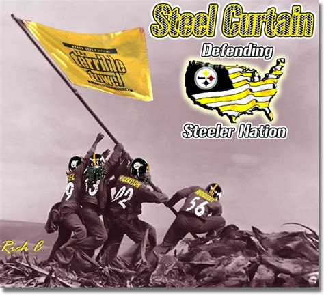 steel curtain pittsburgh steelers pinterest