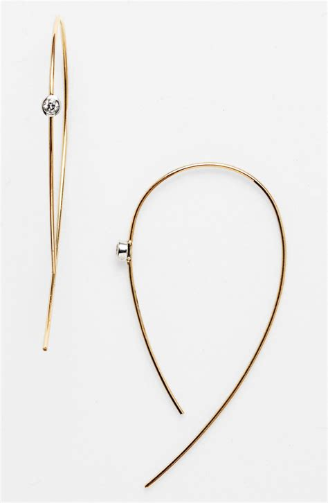 lana jewelry spellbound hooked  hoops diamond hoop