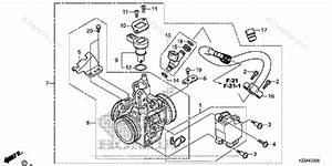 Honda Motorcycle 2017 Oem Parts Diagram For Throttle Body