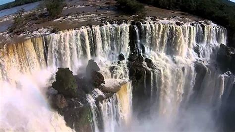 cataratas del iguazu vistas desde  drone youtube