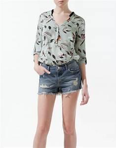 Fashion Bird Erfahrungen : zara bird print shirt in blue sea lyst ~ Markanthonyermac.com Haus und Dekorationen