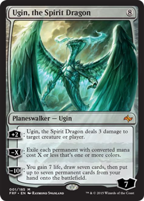 ugin the spirit dragon from magic s fate reforged