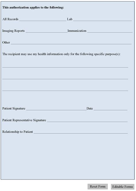 general medical release form template beneficiary receipt and release form
