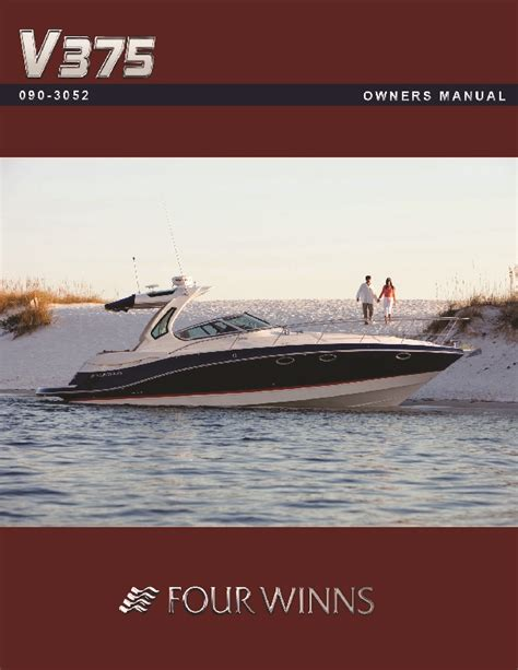Four Winns Boat Owners Manual by Four Winns V375 Boat Owners Manual 2011