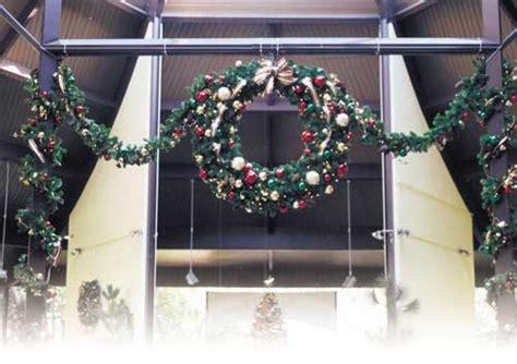 giant outdoor christmas wreaths sprays  greenery