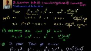 Mathematical Induction  Prove That 1 3   2 3  3 3     N 3