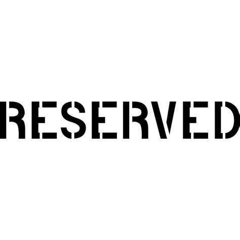 reserved sign stencil ease 4 in reserved stencil cc0087u the home depot