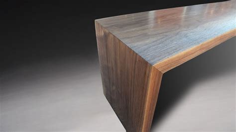 building  modern bench  mitered legs  waterfall