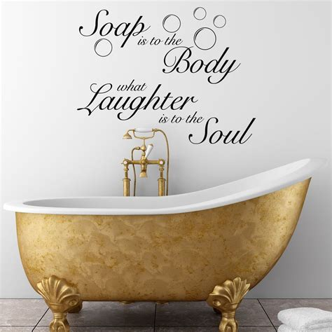 Cheap Bathroom Quotes by Bathroom Wall Sticker Inspirational Quote Ideas Soakology