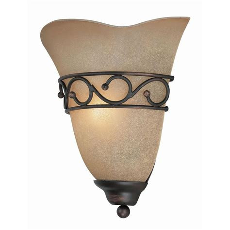 ls sconces paint illumine reanna 1 light bronze sconce with glass cli