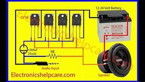 Easy Amplifier Circuit Diagram  How To Make Amplifier  How