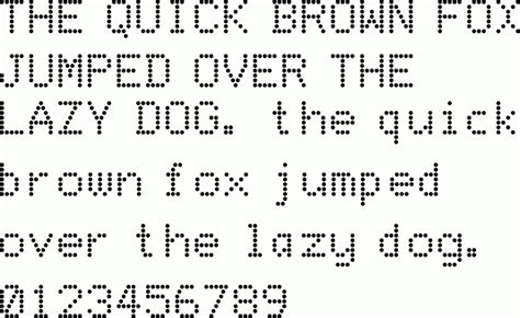 Font Download Dot Matrix