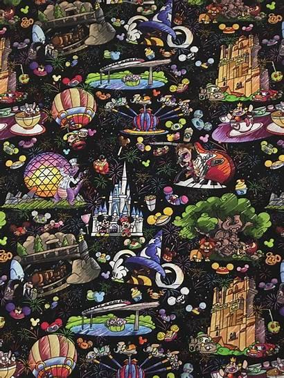 Disney Walt Iphone Fabric Collage Disneyland Carr