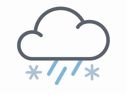 Clipart Rain Snow Mix Weather Icon Transparent