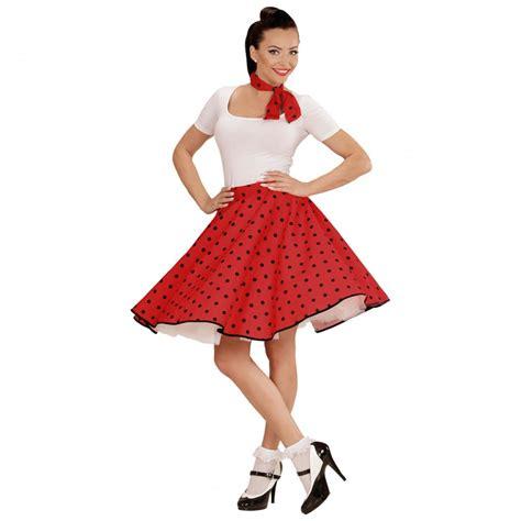 60er Jahre Petticoat rot Rockabilly Rock mit Halstuch