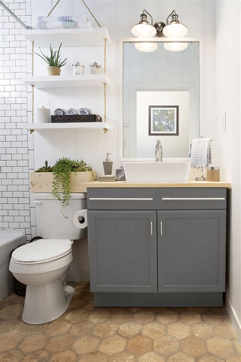 lowes bathroom designs a builder grade bathroom transformation with lowe s interiors