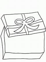 Gift Coloring Pages Boxes Box Drawing Ribbon Christmas Popular Children Getdrawings sketch template