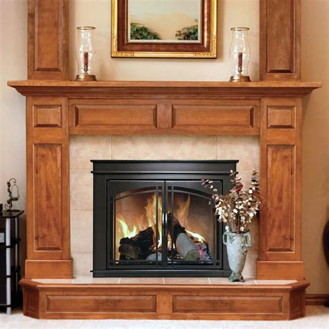 pleasant hearth fenwick cabinet fireplace screen  arch