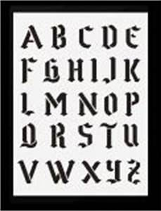 Buchstaben Schablone Metall : schrift schablone gotisches alphabet hobby bastel mix shop schablone abc gro e buchstaben ~ Frokenaadalensverden.com Haus und Dekorationen