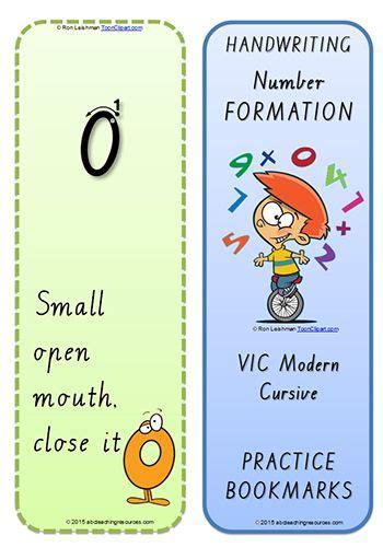 foundation handwriting terminology bookmark number