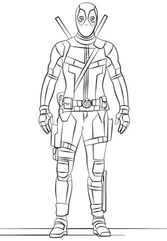 deadpool coloring page  printable coloring pages