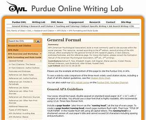 apa formatting and style guide from owl at perdue With purdue owl apa format template