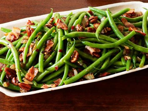 best ever green bean thanksgiving recipe green beans and bacon recipe the neelys food network