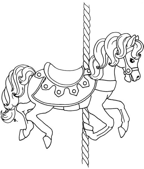 Carousel Book Template by Carousel Horse Outline Coloring Coloring Pages