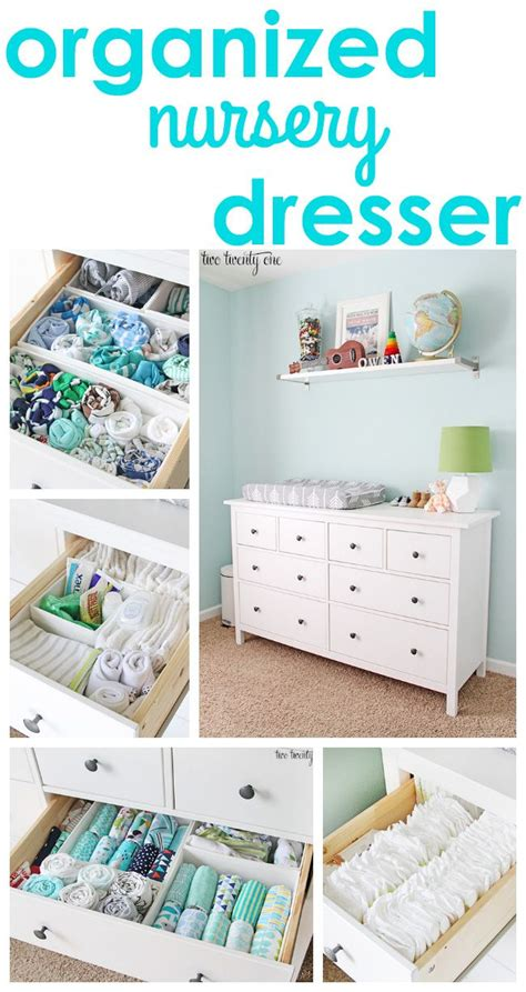 baby room organization ideas great tips and tricks for an organized nursery dresser organization kid s bedroom pinterest
