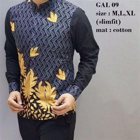 baju batik slim fit fesyen lelaki pakaian di carousell