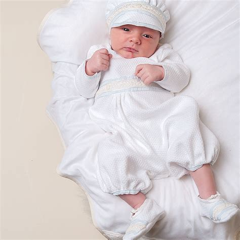 Baby Boy Jumpsuit - Harrison Newborn Collection | Infant Designer Clothes