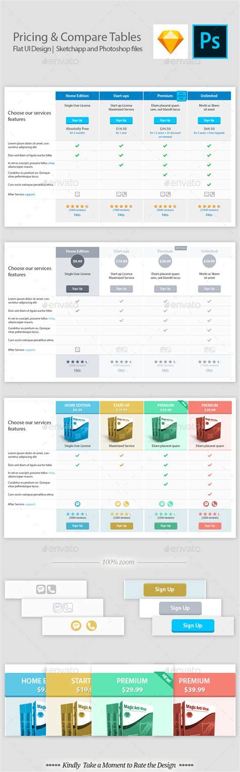 comparison table template html comparison table design template