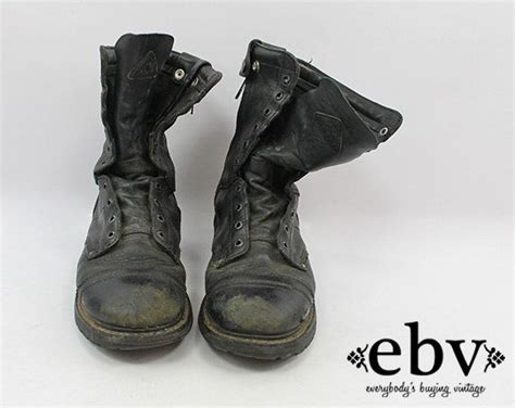 Vintage Grunge Leather Combat Boots Men