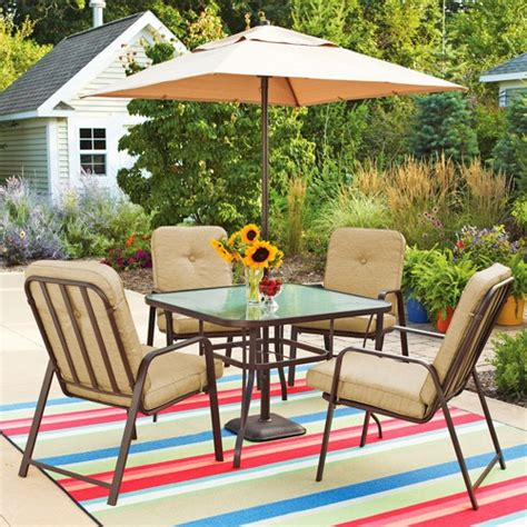 mainstays lawson ridge 5 patio dining set seats 4