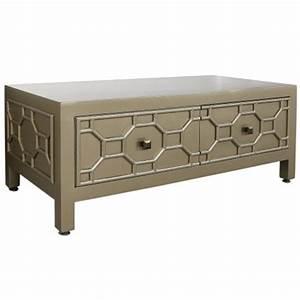 wynn gold geometric coffee table contemporary modern With gold geometric coffee table