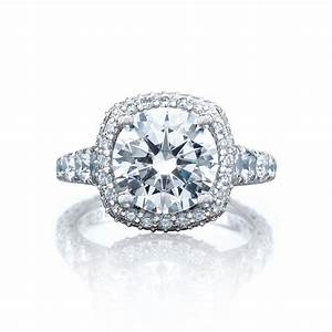 tacori engagement rings royalt cushion halo setting With wedding rings tacori