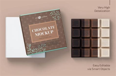 All free mockups include smart objects for easy edit. Free Chocolate Bar PSD Mockup Template - WooSkins