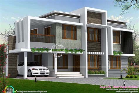 Simple type of contemporary home in 2558 sq ft Kerala