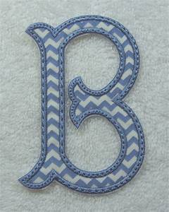 4 inch fish tails monogram letter fabric embroidered iron on With 4 inch embroidered letters