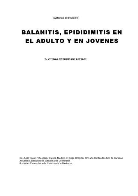 balanitis bacteriana tratamiento