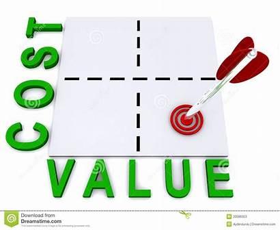 Value Cost Kosten Illustratie Waarde Illustrazione Valore