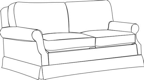 sofa outline vector sofa bw clip art at clker vector clip art online
