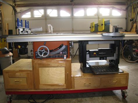 containted tablesaw router  planer workstation