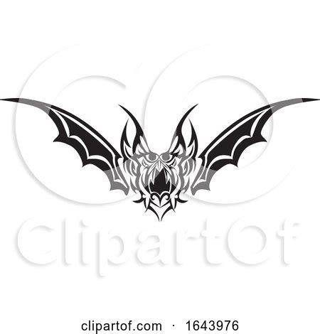 black  white bat wing tribal tattoo design  morphart