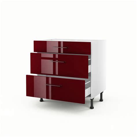 element cuisine pas cher meuble de cuisine bas 3 tiroirs griotte h 70 x l 80