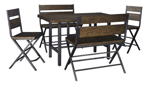 Ashley Kavara Counter Height Dining Set With Double Stool