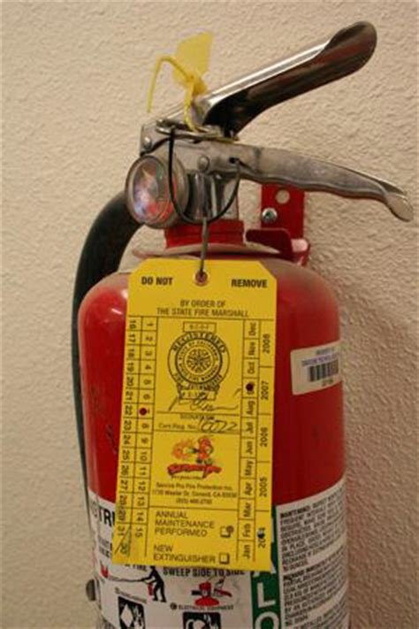fire extinguisher monthly check code  policy