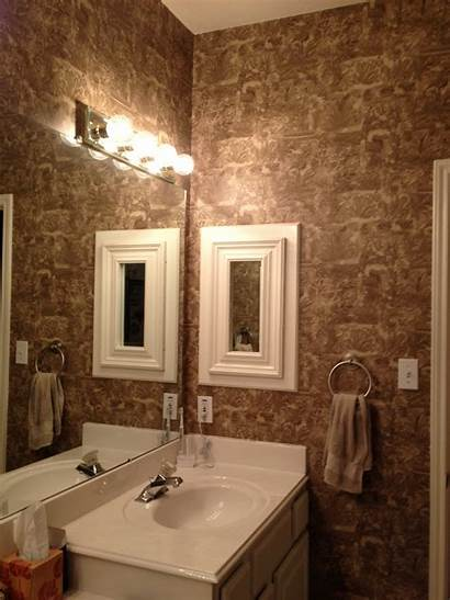 Bathroom Master Bathrooms Vinyl Texture Designs Wallpapered