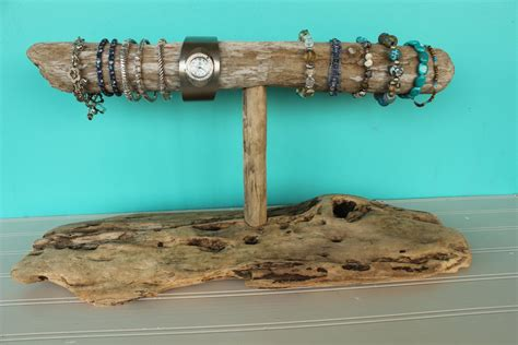 Driftwood Jewelry Holder Bracelet And Watch Holder Necklace