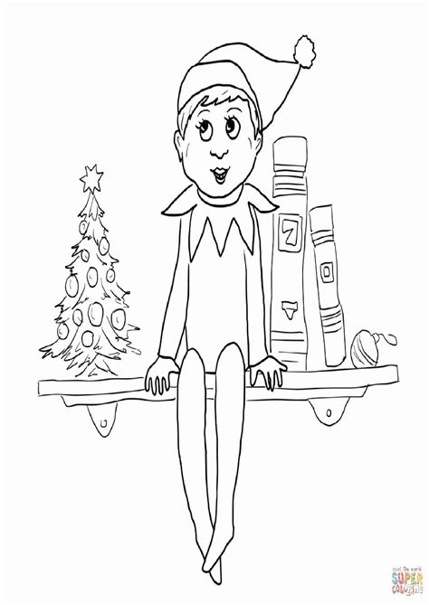 elf   shelf coloring pages coloring home
